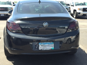 Tech Tip #6 - Black Buick Regal after custom taillight film wrap