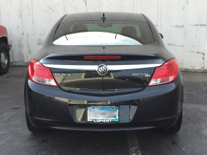 Tech Tip #6 - Black Buick Regal before custom taillight film wrap