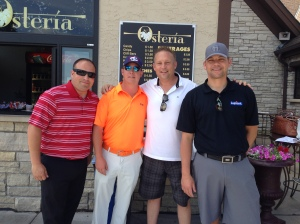 Lupient employees enjoying a day of golf for charity